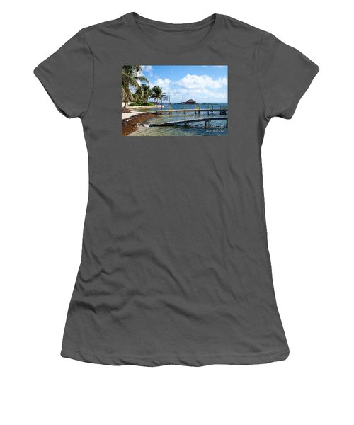 Women's T-Shirt (Junior Cut) featuring the photograph Shoreline by Lawrence Burry