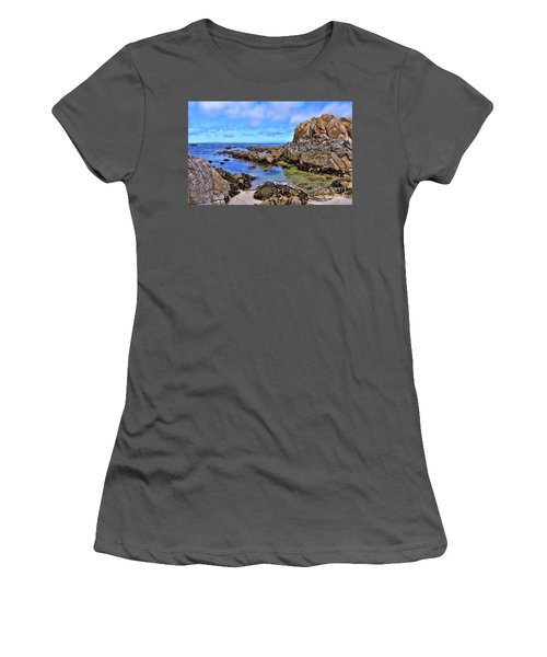 Shores Of Pacific Grove  Women's T-Shirt (Junior Cut) by Gina Savage