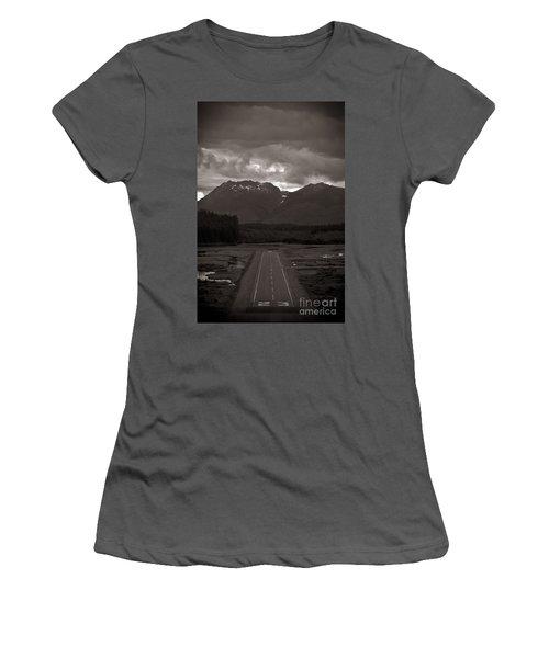 Short Runway Women's T-Shirt (Junior Cut) by Darcy Michaelchuk