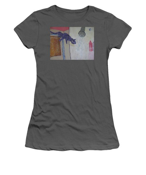 Shower Cat Women's T-Shirt (Athletic Fit)