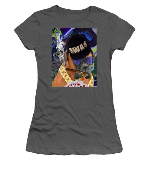 Women's T-Shirt (Athletic Fit) featuring the mixed media Showing My Cards by Marvin Blaine