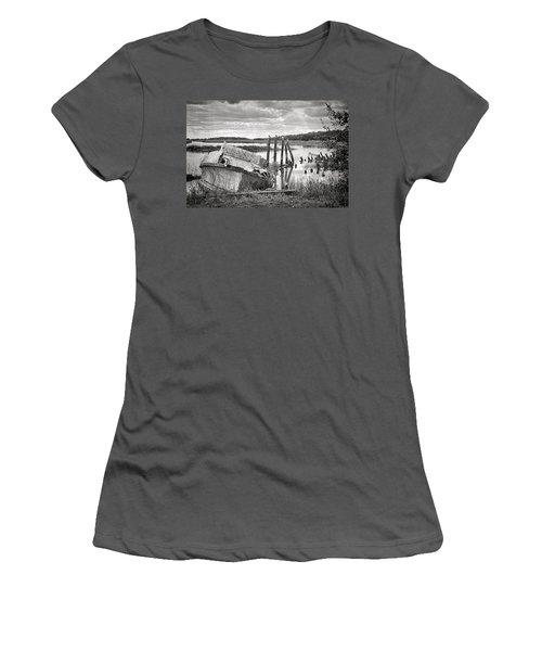 Shrimp Boat Graveyard Women's T-Shirt (Junior Cut) by Scott Hansen