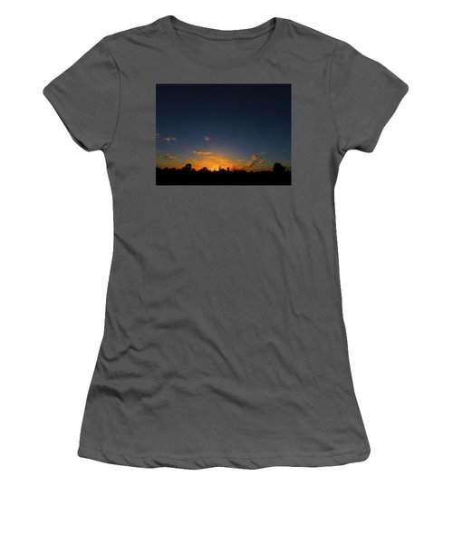 Women's T-Shirt (Athletic Fit) featuring the photograph Shy Sunset by Mark Blauhoefer