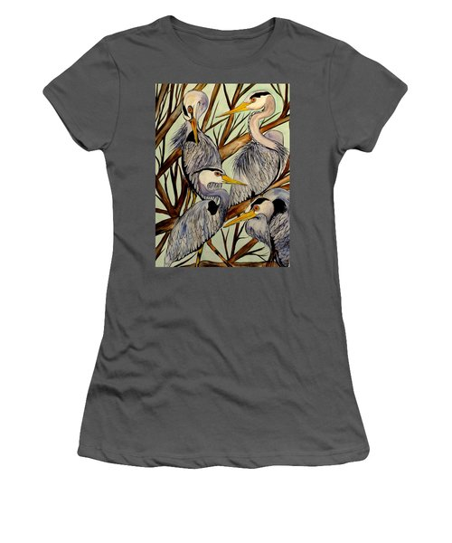 Sibling Rivalry With Egos On The Side Women's T-Shirt (Junior Cut) by Lisa Aerts