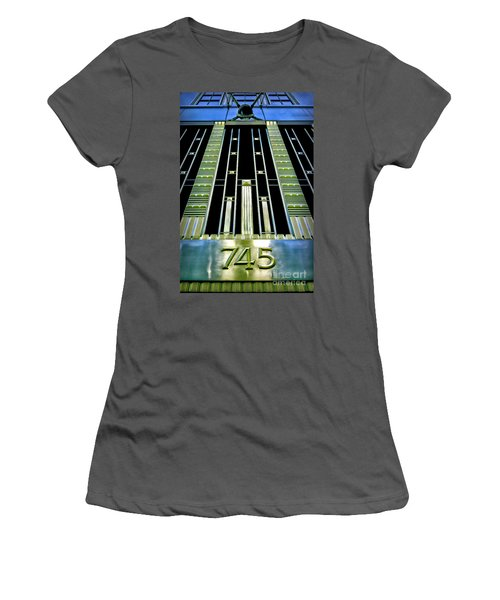Women's T-Shirt (Junior Cut) featuring the photograph Sights In New York City - Classy Address by Walt Foegelle