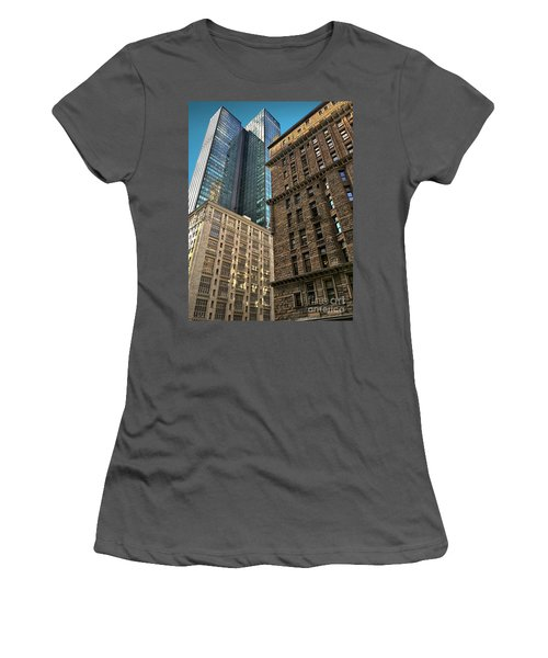 Women's T-Shirt (Junior Cut) featuring the photograph Sights In New York City - Old And New 2 by Walt Foegelle