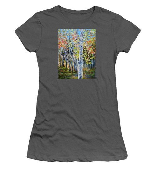 Signs Of Autumn Women's T-Shirt (Junior Cut) by Patti Gordon