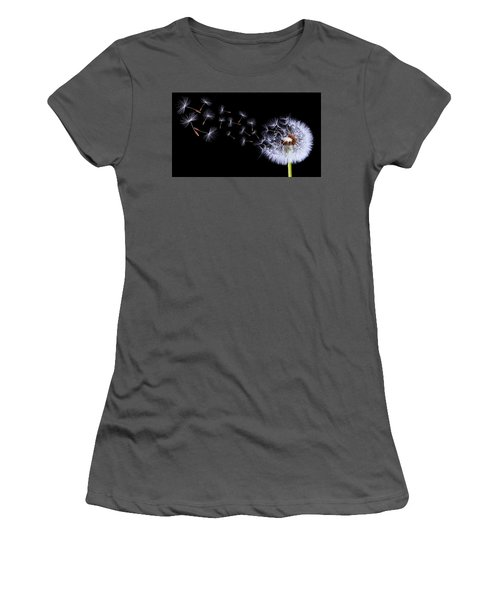 Silhouettes Of Dandelions Women's T-Shirt (Athletic Fit)