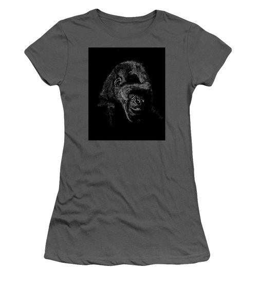 Silverback Women's T-Shirt (Junior Cut) by Lawrence Tripoli