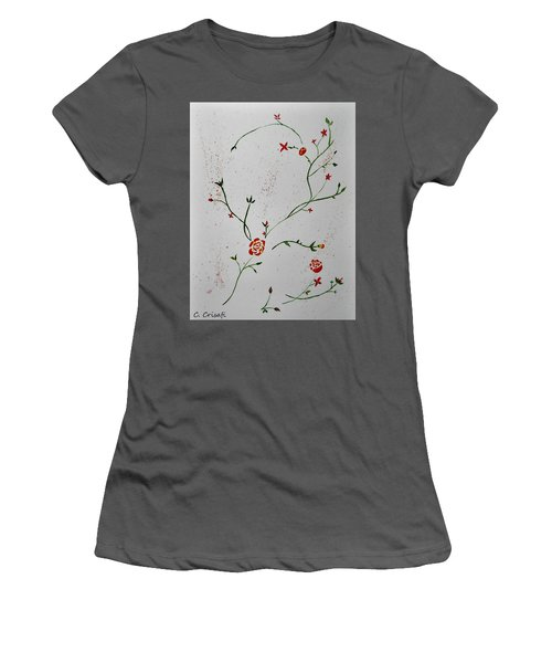 Simple Flowers #1 Women's T-Shirt (Junior Cut) by Carol Crisafi