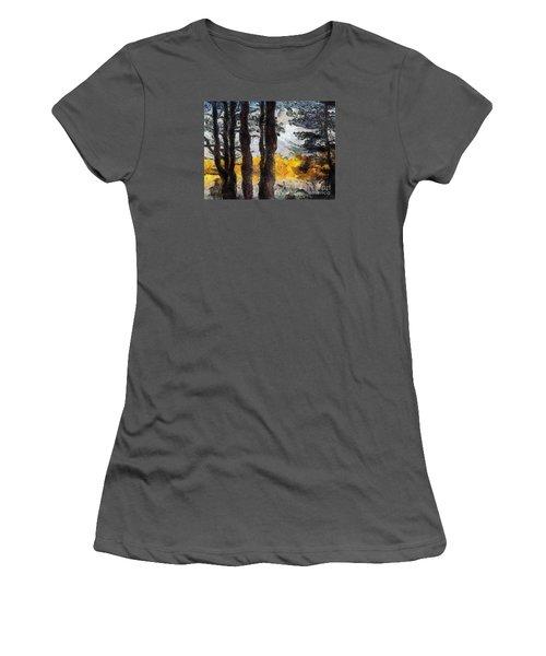Simulated Van Gogh Scene Women's T-Shirt (Athletic Fit)
