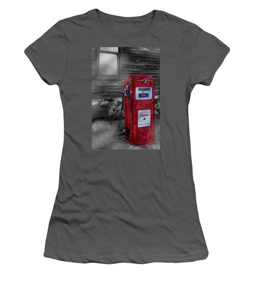 Women's T-Shirt (Athletic Fit) featuring the photograph Sinclair Gas Pump Sc by Susan Candelario