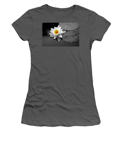 Women's T-Shirt (Junior Cut) featuring the photograph Single Lily by Shari Jardina