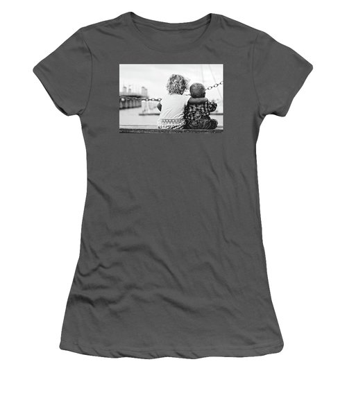 Sister And Brother Women's T-Shirt (Junior Cut) by Thomas M Pikolin