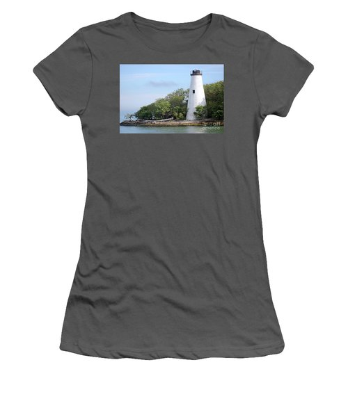 Sister Island Lighthouse Women's T-Shirt (Junior Cut) by The Art of Alice Terrill