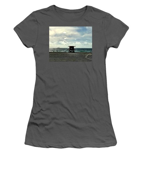 Sitting On The Beach Women's T-Shirt (Athletic Fit)