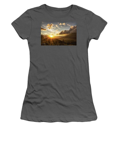 Skagit Valley Sunset Women's T-Shirt (Athletic Fit)