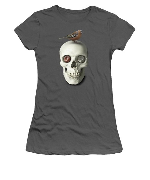 Skull And Bird Women's T-Shirt (Athletic Fit)