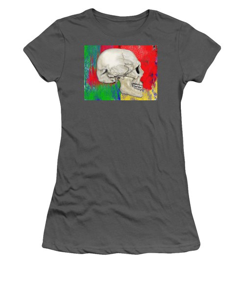 Skull In Primary Without Shape Women's T-Shirt (Athletic Fit)