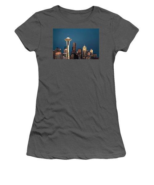 Sleepless In Seattle Women's T-Shirt (Junior Cut) by Eduard Moldoveanu