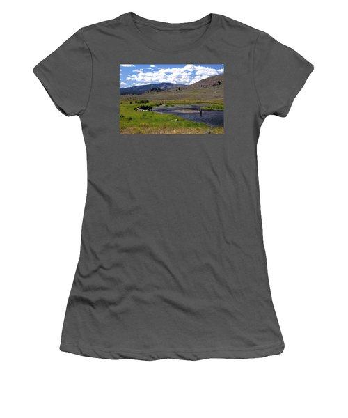 Slough Creek Angler Women's T-Shirt (Athletic Fit)