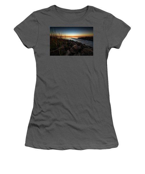 Slow Motion Runoff Women's T-Shirt (Junior Cut) by Allen Biedrzycki