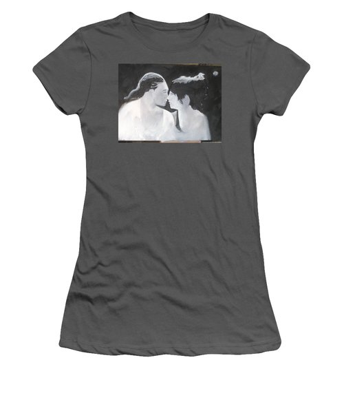 Women's T-Shirt (Junior Cut) featuring the painting Slowly Captivated by Keith Thue