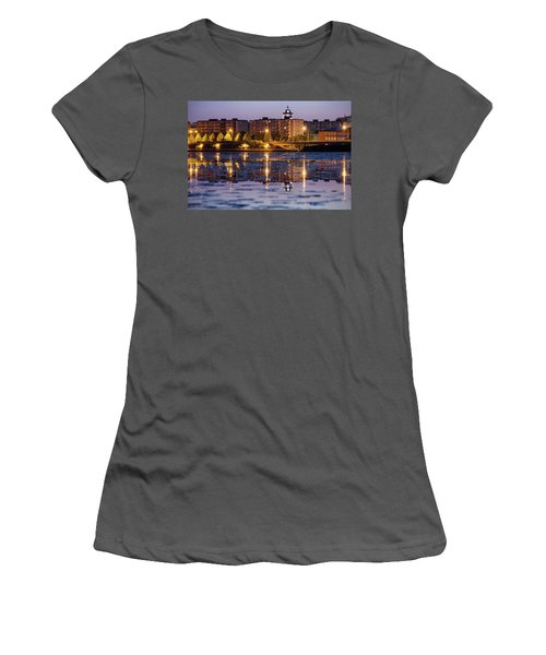 Small Town Skyline Women's T-Shirt (Athletic Fit)