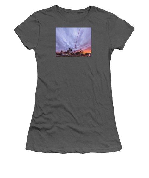Smart Financial Centre Construction Sunset Sugar Land Texas 10 26 2015 Women's T-Shirt (Junior Cut)