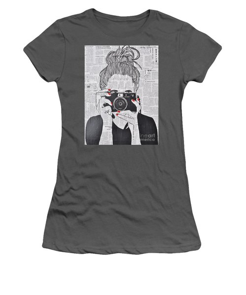 Smile Twice Women's T-Shirt (Athletic Fit)