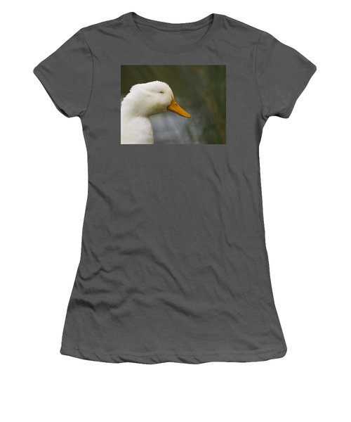 Smiling Pekin Duck Women's T-Shirt (Athletic Fit)