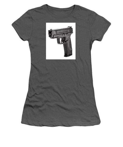 Women's T-Shirt (Junior Cut) featuring the photograph Smith And Wesson Handgun by Andy Crawford