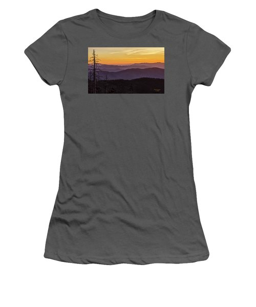 Smoky Mountain Morning Women's T-Shirt (Athletic Fit)