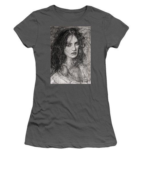 Smoky Noir... Ode To Paolo Roversi And Natalia Vodianova  Women's T-Shirt (Athletic Fit)