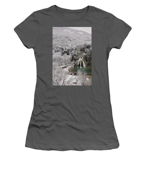 Snow And Turner Falls 2 Women's T-Shirt (Athletic Fit)