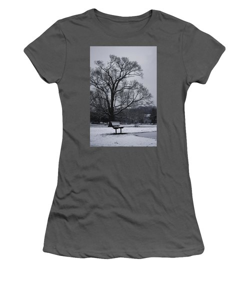 Snow In East Brunswick Women's T-Shirt (Junior Cut) by Vadim Levin