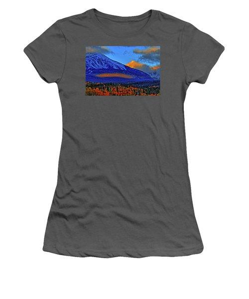 Women's T-Shirt (Junior Cut) featuring the photograph Snow Peak Fall by Scott Mahon