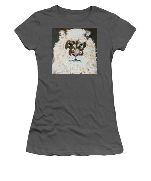 Women's T-Shirt (Athletic Fit) featuring the painting Snow Tiger by Donald J Ryker III