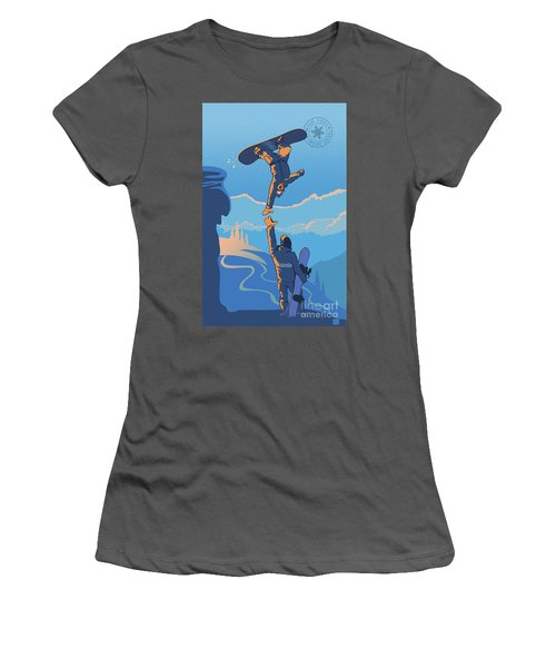 Snowboard High Five Women's T-Shirt (Athletic Fit)