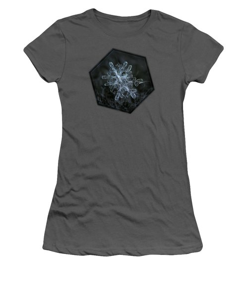 Women's T-Shirt (Athletic Fit) featuring the photograph Snowflake Of January 18 2013 by Alexey Kljatov