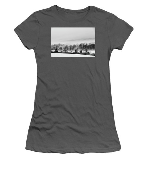 Snowscape Women's T-Shirt (Athletic Fit)