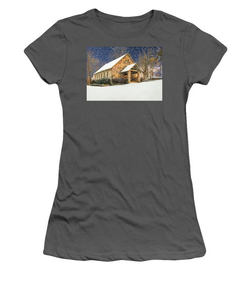 Snowy Cloudland Presbyterian Church  Women's T-Shirt (Athletic Fit)