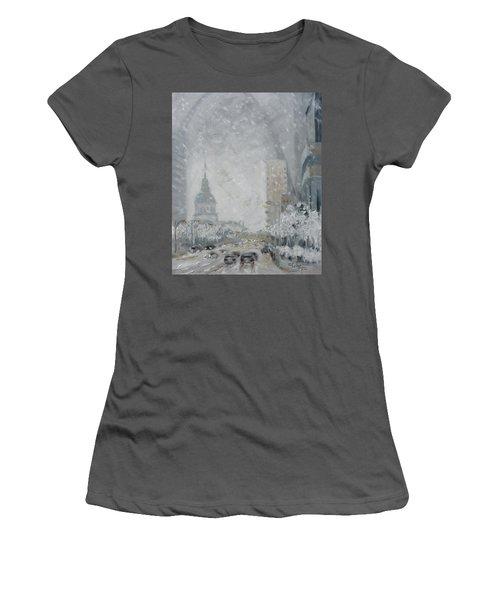 Snowy Day - Market Street Saint Louis Women's T-Shirt (Athletic Fit)