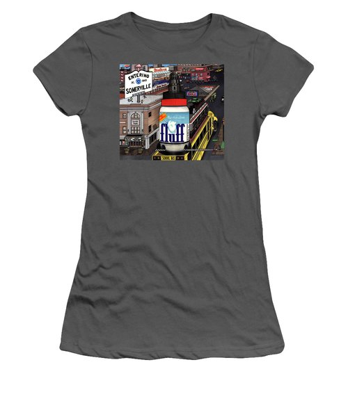 Women's T-Shirt (Junior Cut) featuring the drawing A Strange Day In Somerville  by Richie Montgomery