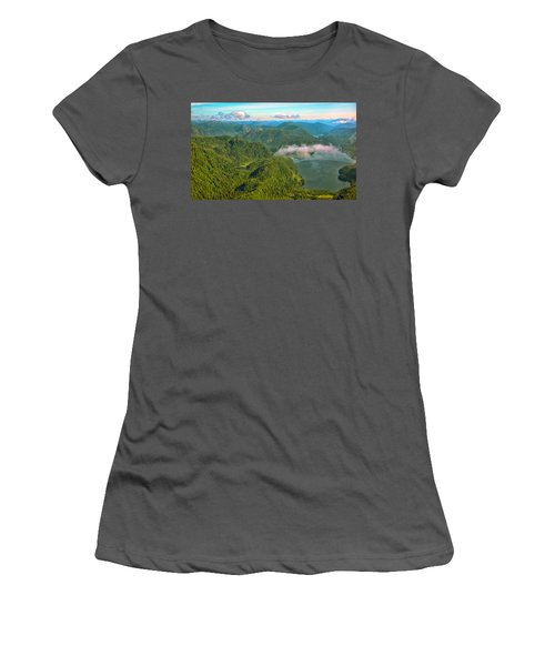 Women's T-Shirt (Junior Cut) featuring the photograph Over Alaska - June  by Madeline Ellis