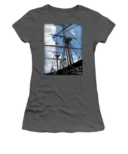 Son Of A Son Of A Sailor Quote - Tribute To The Bounty Women's T-Shirt (Athletic Fit)
