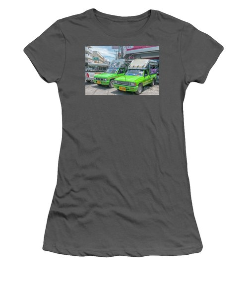 Women's T-Shirt (Junior Cut) featuring the photograph Songthaew Taxi by Antony McAulay