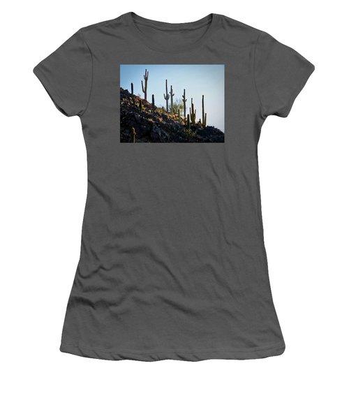 Sonoran Desert Saguaro Slope Women's T-Shirt (Athletic Fit)