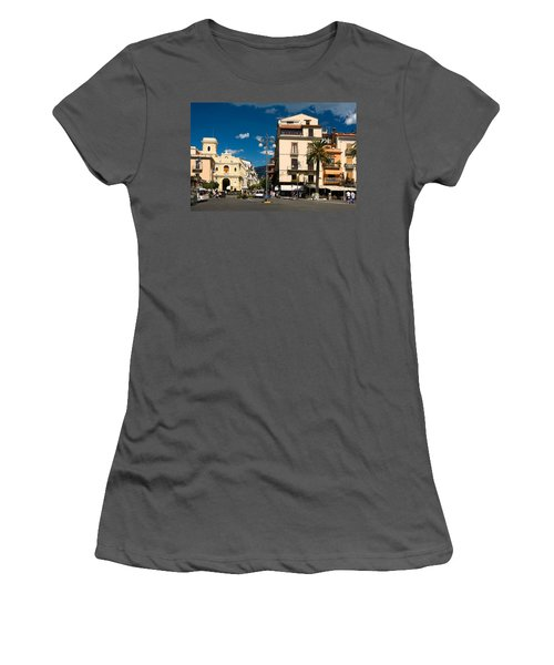 Sorrento Italy Piazza Women's T-Shirt (Athletic Fit)