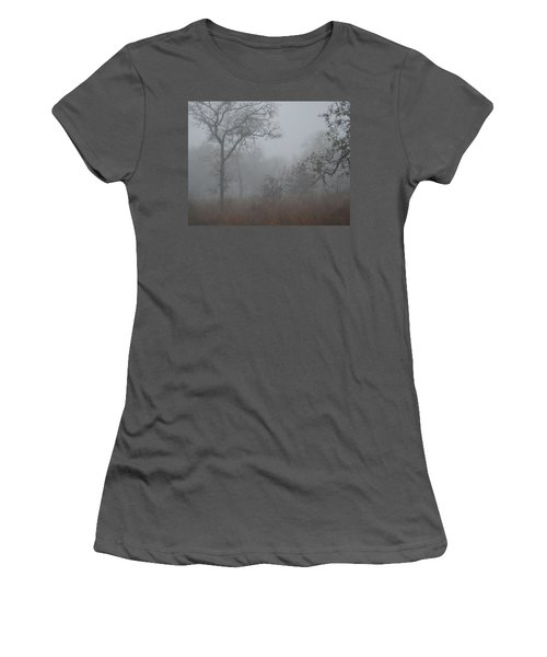 Women's T-Shirt (Junior Cut) featuring the photograph South Texas Fog I by Carolina Liechtenstein